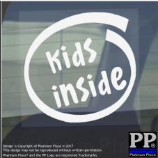 1 x Kids Inside-Window,Car,Van,Sticker,Sign,Vehicle,Child,Baby,Boy,Girl,Warning